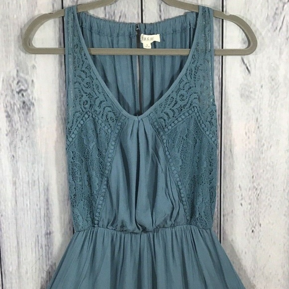 Taylor & Sage Pants - Taylor & Sage Lace Romper with Shorts Lined Blue